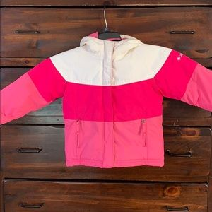 Girl's pink Columbia puffer coat. Size 3T
